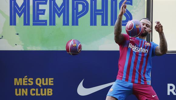 Memphis Depay consideró que cumplió un sueño al llegar al FC Barcelona. (Foto: Reuters)