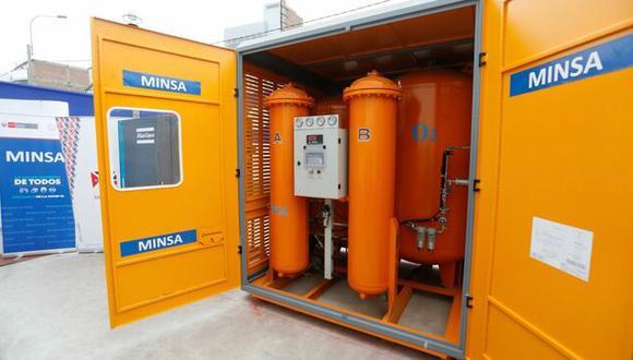 El Ministerio de Salud inauguró en el Hospital Emergencia Ate Vitarte una nueva planta de oxígeno medicinal. (Foto: Minsa)