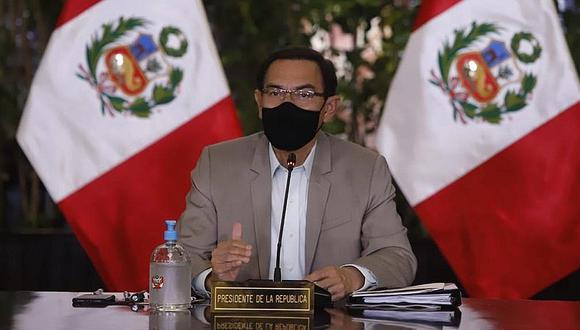 Martín Vizcarra reiteró que las elecciones serán el 11 de abril del 2021 y que serán transparentes. (Foto: Presidencia)