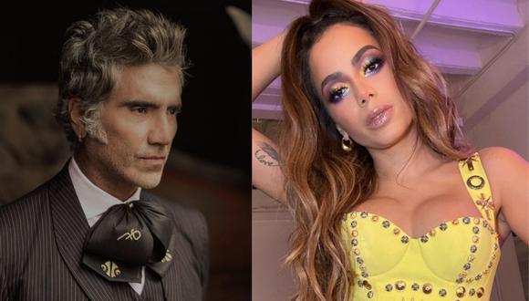 Alejandro Fernández y Anitta dan positivo a prueba de COVID-19 en los Latin AMAs. (Foto: @alexoficial/@anitta)
