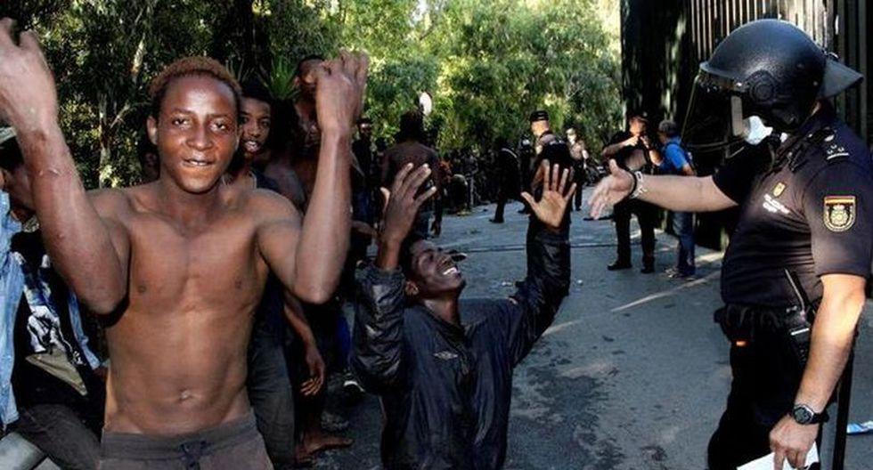 Los dos ciudadanos forman parte del grupo de diez migrantes detenidos como presuntos organizadores del asalto del 26 de julio.   Foto: EFE