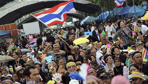 Protestas en Bangkok son multitudinarias. (AP)