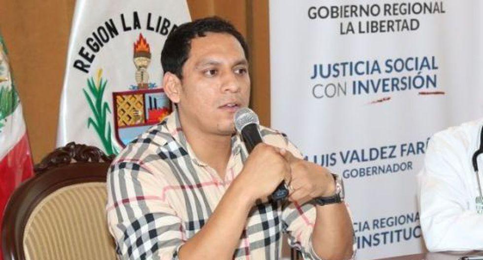 Gobernador de La Libertad, Luis Valdez, es blanco de críticas. (USI)