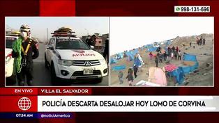 Villa El Salvador: PNP descarta desalojar hoy la zona de Lomo de Corvina