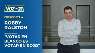 """Robby Ralston: """"Votar en blanco es votar en rojo"""""""