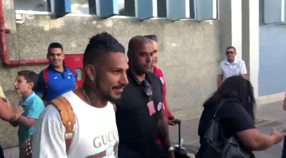 Paolo Guerrero llegó a Porto Alegre para empezar a trabajar con el Inter. (Foto: captura)
