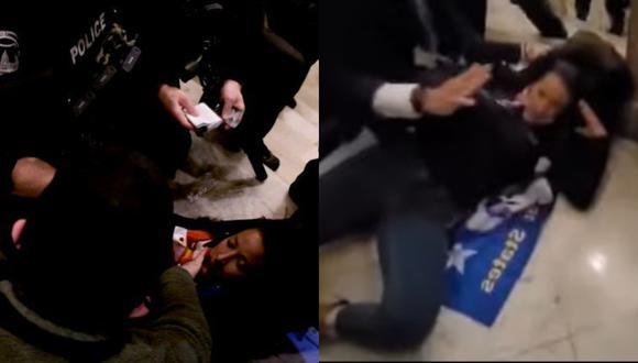 Un video logró captar el preciso momento en que un policía le dispara.
