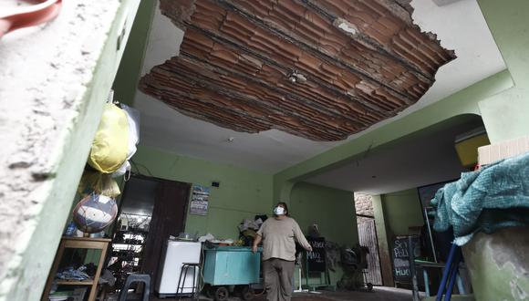 Inmueble afectado por el movimiento sísmico de 6.0 con epicentro en Mala. (Foto: César Campos / @photo.gec)