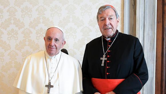 Papa Francisco recibió hoy a cardenal australiano George Pell (VATICAN MEDIA / AFP)