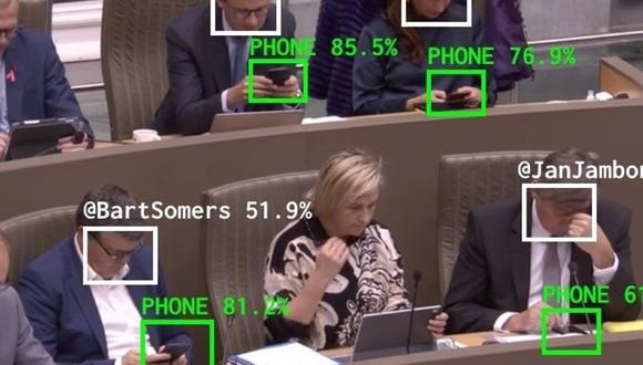 The Flemish Scrollers, la IA que analiza si los políticos están mirando el móvil durante las sesiones parlamentarias. (Foto: Europa Press | The Flemish Scrollers)