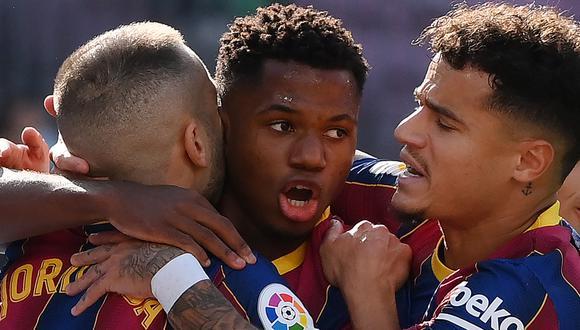 Ansu Fati puso el 1-1 en el Barcelona vs. Real Madrid por LaLiga. (Foto: AFP)