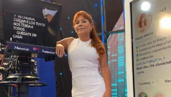 Magaly Medina evalúa hacer programa desde su casa. (Foto: Instagram)