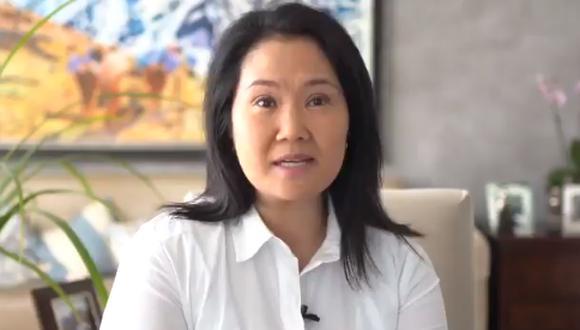 Keiko Fujimori cuestionó que el fiscal José Domingo Pérez haya solicitado la suspensión temporal de las actividades de Fuerza Popular. (Foto: Captura de video)