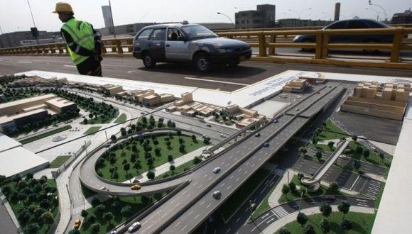Las obras en el by pass de la avenida Venezuela se encuentran paralizadas. (GEC)