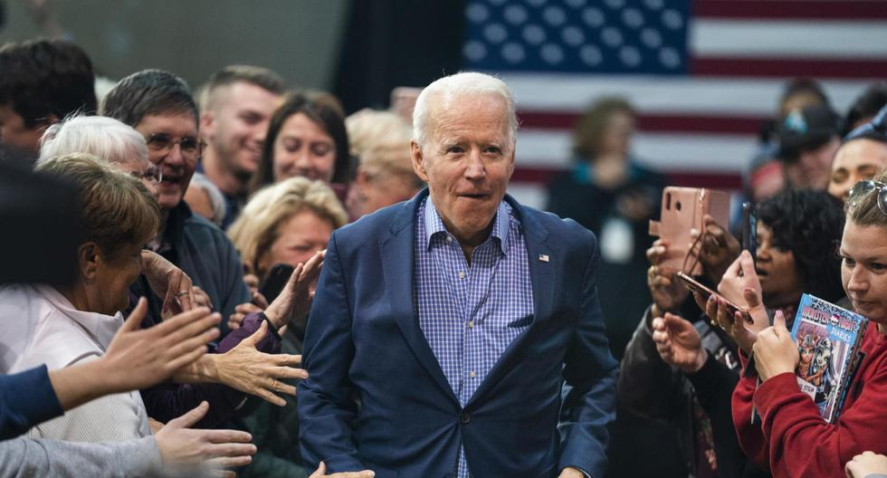 El presidente electo de Estados Unidos, Joe Biden, realiza campañas en la Coastal Carolina University en Conway, Carolina del Sur. (EFE/EPA/Jim Lo Scalzo).