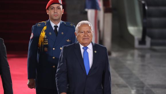 El ex presidente de El Salvador, Salvador Sánchez Cerén. Foto: EFE