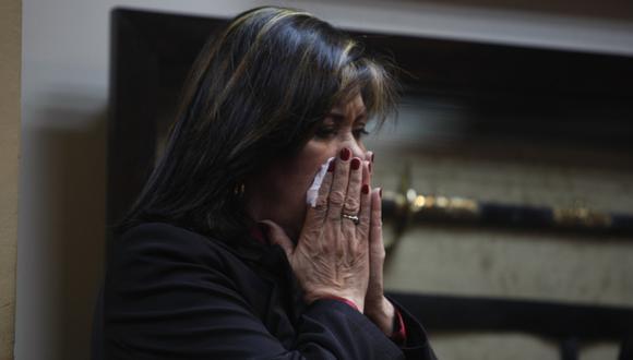 POSTURA. La legisladora fujimorista insistió en defender la legalidad de su controvertida elección. (Mario Zapata)