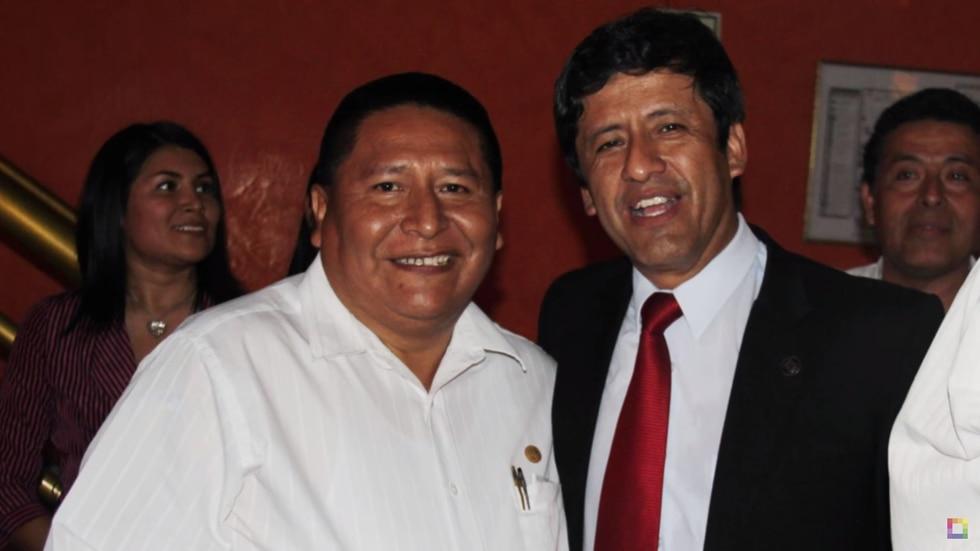 Alfredo Quispe y Guido Aguila posan juntos en el 2015. (Foto: Willax)