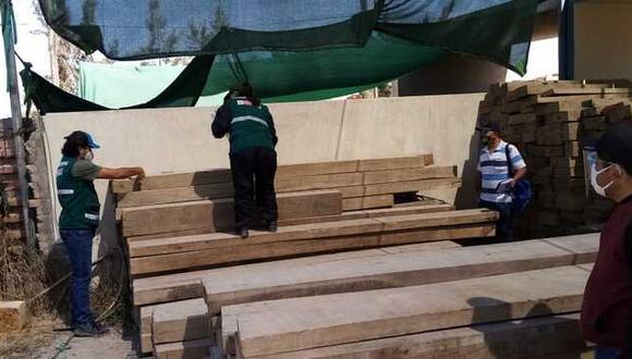 Arequipa: madera ilegal decomisada será transformada en bancas y estanterías para colegio