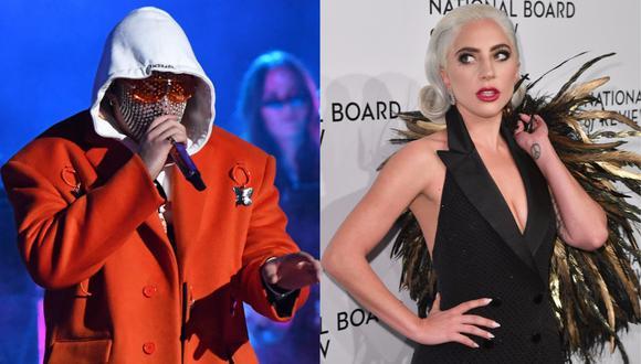 Bad Bunny genera críticas por letra de su canción en la que menciona a Lady Gaga. (Foto: AFP)