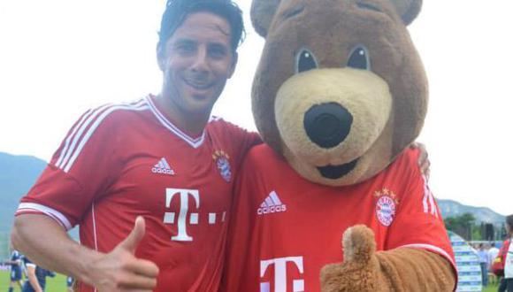 Ganador. La pasa bien en pretemporada italiana del Bayern. (DIfusión)