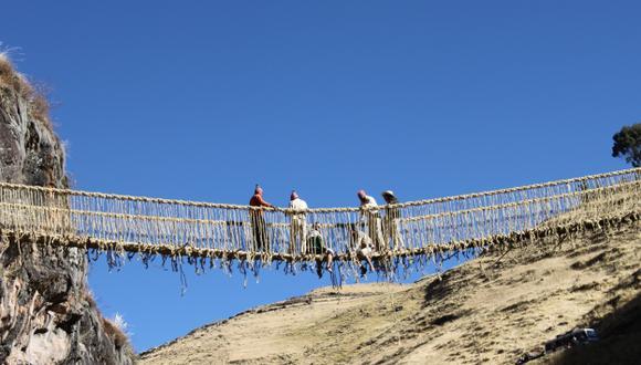 Q'ESWACHAKA. Es el único puente de su género en el mundo. (Difusión)