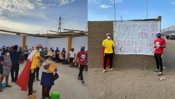 Yaqoob Mubarak y su socio hicieron entrega de víveres en Alto Trujillo. (Perú21)