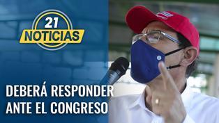 TC admite demanda y dice que presidente Vizcarra deberá ir mañana al Congreso