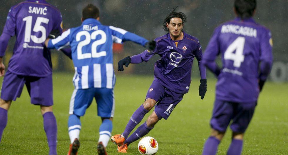 Fiorentina obtuvo un buen triunfo en Dinamarca. (AP)