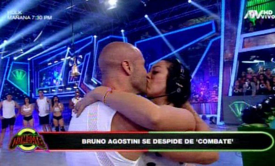 Bruno y Cathy se abrazaron y se dieron un beso en la boca en presencia de todos. (Foto: ATV)