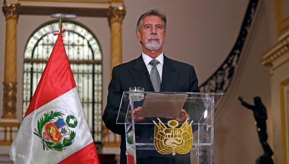 El presidente Francisco Sagasti se pronunció esta tarde. (Foto: Archivo de Twitter @presidenciaperu)