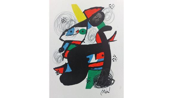 La obra de Joan Miró cuenta con trazos de lápiz. (Imagen proporcionada por la Universidad de Lima)