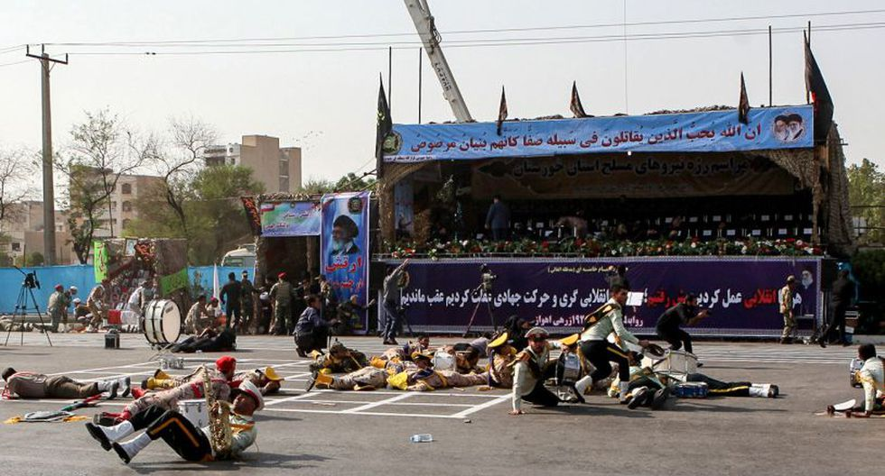 """""""Irán considera que los padrinos regionales del terrorismo y sus maestros estadounidenses son responsables de tales ataques"""", agregó el ministro iraní. (Foto: AFP)"""