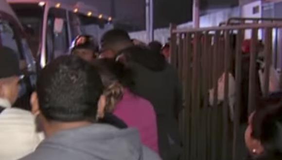 La Policía controló la situación como pudo. (Captura de pantalla)
