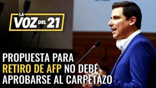 César Combina sobre propuesta de retiro del 100% de las AFP