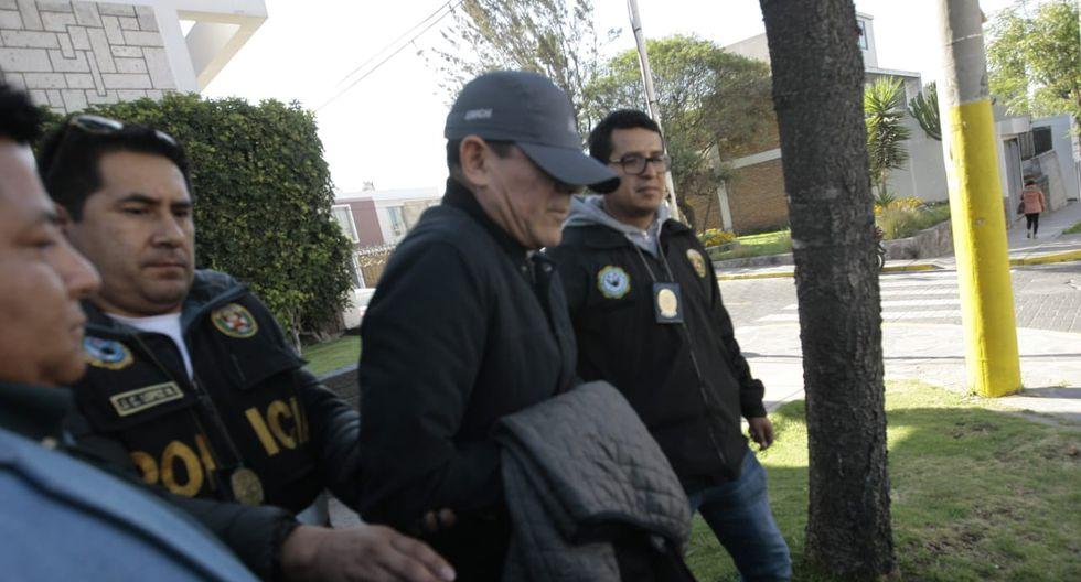 El jefe de la Tercera División del Ejército, general EP Carlos Mayca Vásquez, fue detenido esta madrugada en Arequipa. (LinoMamani)