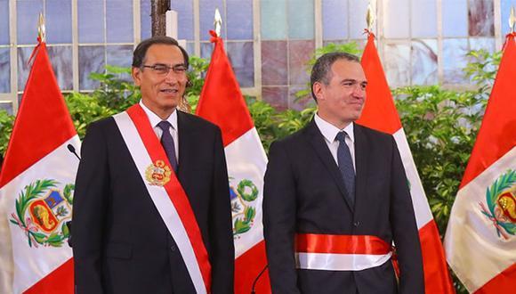 Salvador del Solar juramentó hoy como nuevo primer ministro en reemplazo de César Villanueva. (Foto: Agencia Andina)