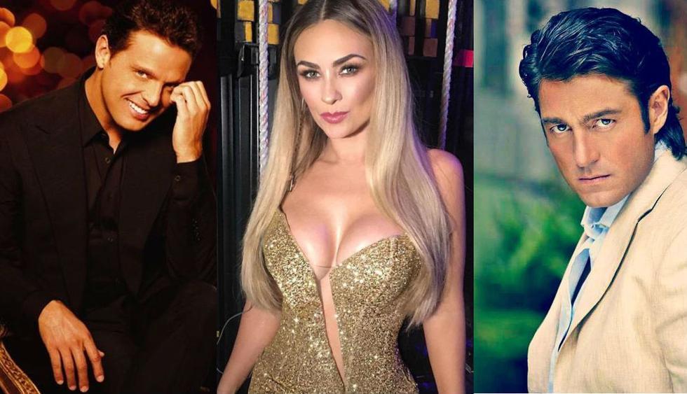 ¿Será que el romance entre Luis Miguel y Aracely Arámbula inició cuando ella aún salía con Fernando Colunga? (Fotos: Instagram/ Facebook)