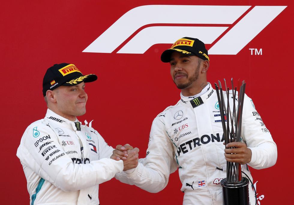 Tras vencer en Azerbaiyán, Hamilton sumó su segunda victoria consecutiva en el circuito de Barcelona-Cataluña de Montmeló. (AP)