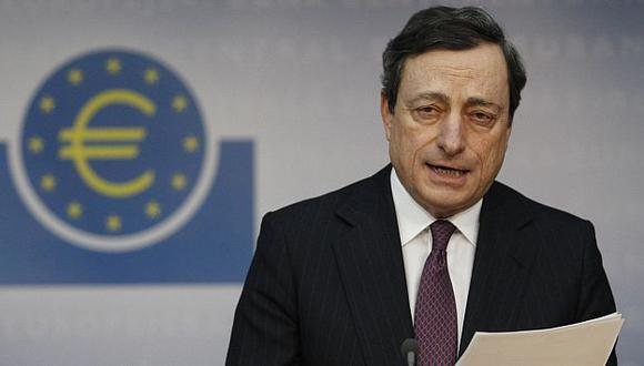 Mario Draghi dijo que España debe seguir con su objetivo de consolidación fiscal. (Reuters)