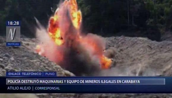 Durante un operativo en la ciudad de Carabaya, en Puno, la Policía Nacional encontró diversos equipos empleados para la minería ilegal. (Video: Canal N)