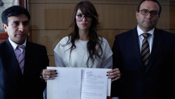 Angie Jibaja entabló demanda de filiación a Jean Paul Santa María. (Foto: Tuteve.tv)