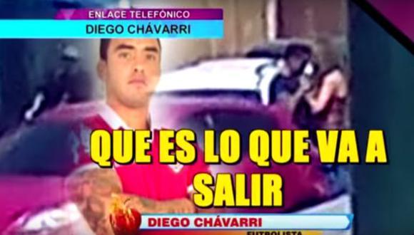 Diego Chavarri se puso nervioso al ser consultado por ampay con Melissa Klug. (Captura Latina)