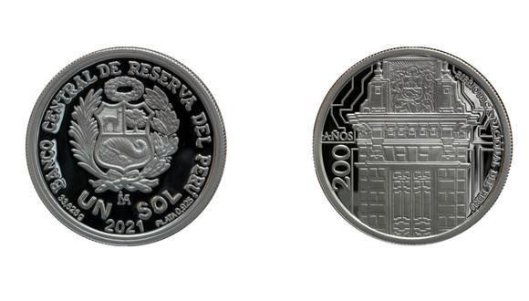 La nueva moneda es alusiva a la biblioteca del país. (Imagen: BCR)
