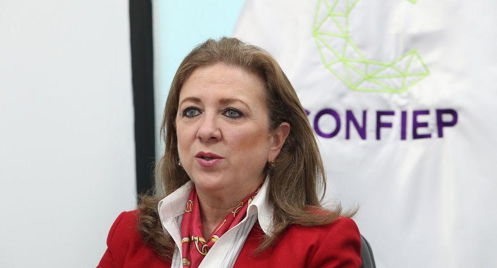 María Isabel León, presidenta de la Confiep, precisó que ese gremio no avala candidatos. (Foto: GEC)