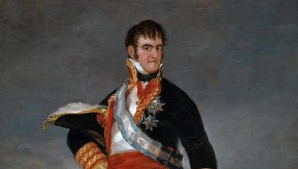 Fernando VII de Borbón, que fue tomado como prisionero durante la invasión napoleónica y se mantuvo así hasta 1814, año en que volvió al poder y restituyó el absolutismo en España.