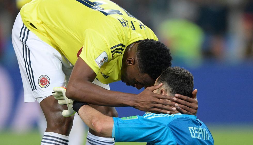 David Ospina no pudo atajar el penal de Eric Dier que le dio la clasificación a Inglaterra. (Foto: AFP)