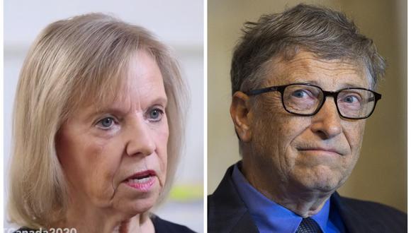 Ann Winblad y Bill Gates. (Fotos: Globalive Media   AFP)