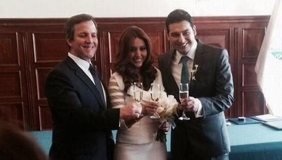 Nicole Pillman publicó en su cuenta de Twitter la imagen de su boda. (@NicolePillman)