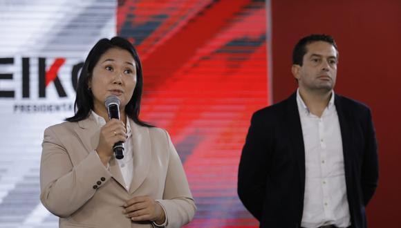 """La candidata presidencial de Fuerza Popular, Keiko Fujimori, insistió en que existen """"actores externos"""" que están """"vulnerando"""" la votación del pasado 6 de junio. (Foto: GEC)"""